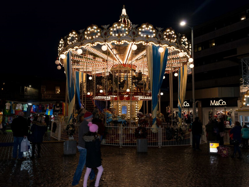 Double Deck Carousel at night