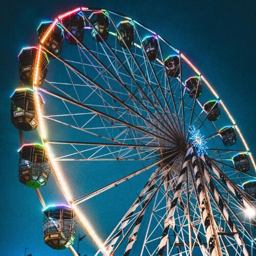 Festival Wheel against the night sky