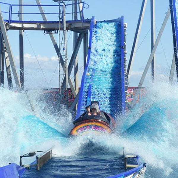 Log flume water ride